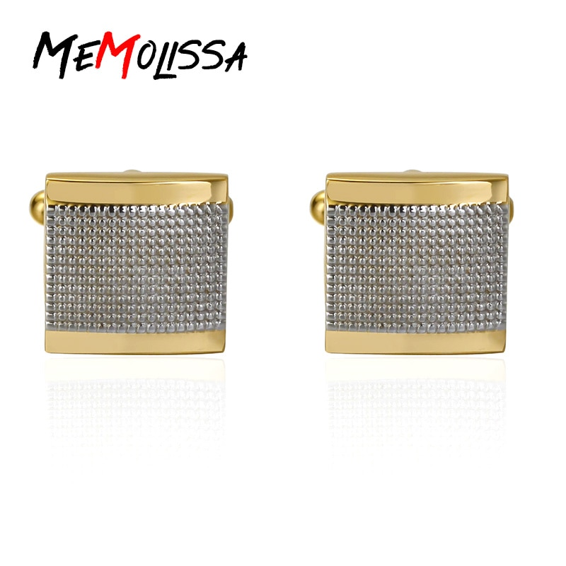 MeMolissa Luxury shirt Frosted Squre cufflink for mens Brand cuff buttons cuff links High Quality abotoaduras Jewelry luxury fashion laser engraved check sudoku design cufflink 18 style for mens brand cuff buttons cuff links high quality jewelry
