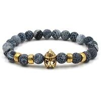 natural stone helmet charm bracelet fashion jewelry female bead elasticity rope chakra bracelets men for women pulseira feminina