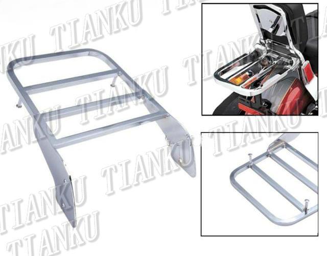 Soporte cromado para equipaje trasero de motocicleta para Honda Shadow VT400 VT 750