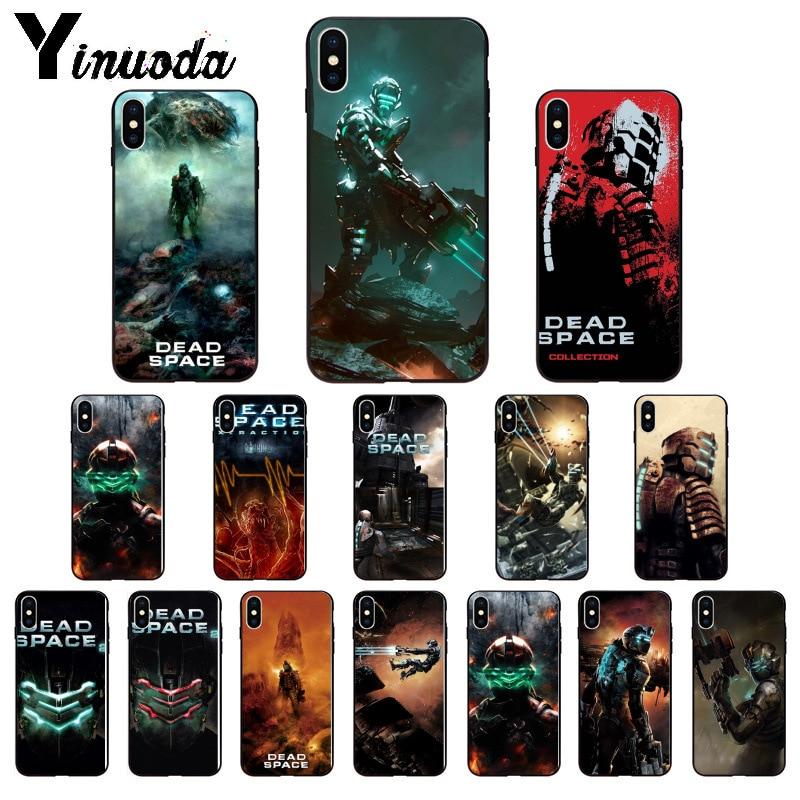 Yinuoda espacio muerto de lujo diseño único teléfono cubierta para Apple iPhone 8 7 6 6S Plus X XS MAX 5 5S SE XR teléfonos móviles