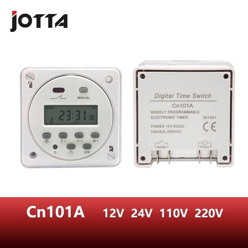 CN101A LCD zeit schalter 12V 24V 110V 220V Zeit Relais Straße lampe billboard power versorgung timer mit wasserdichte box