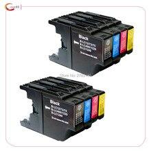 8 PIÈCES Compatible Frère LC1240 LC1280 Cartouche Dencre pour Frère MFC-J430W MFC-J5910DW MFC-J625DW MFC-J6510DW MFC-J6710DW Imprimante