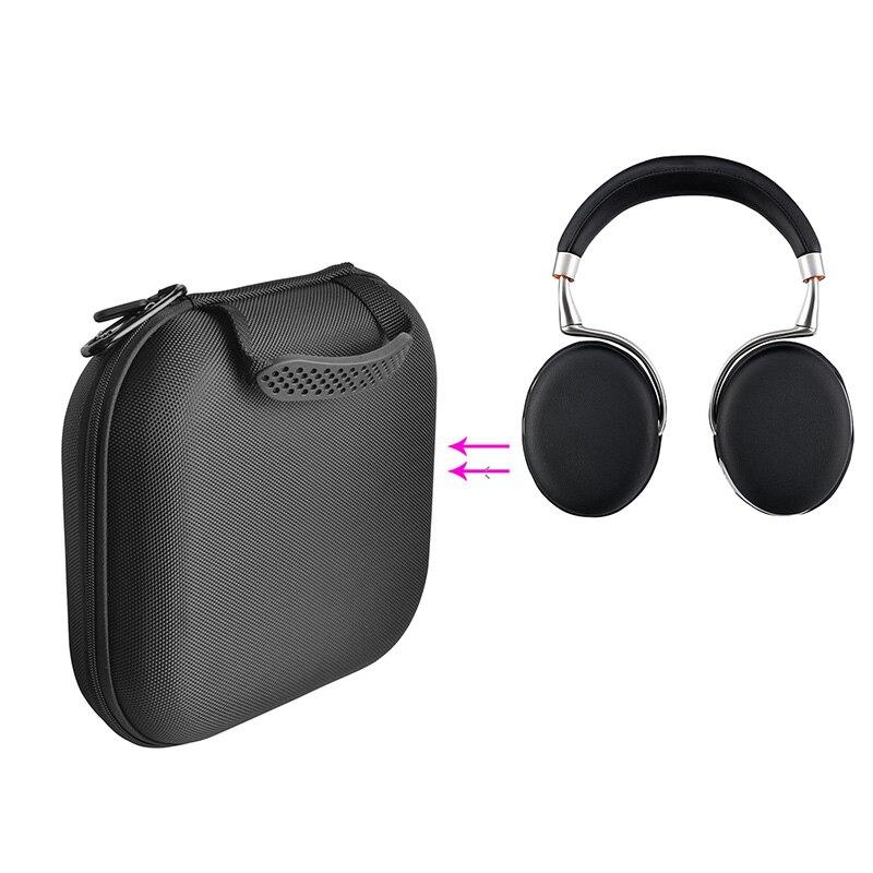 Caso protetor de náilon durável para o papagaio zik 2.0 bluetooth fone de ouvido espaço extra para cabos carregador alça handhold