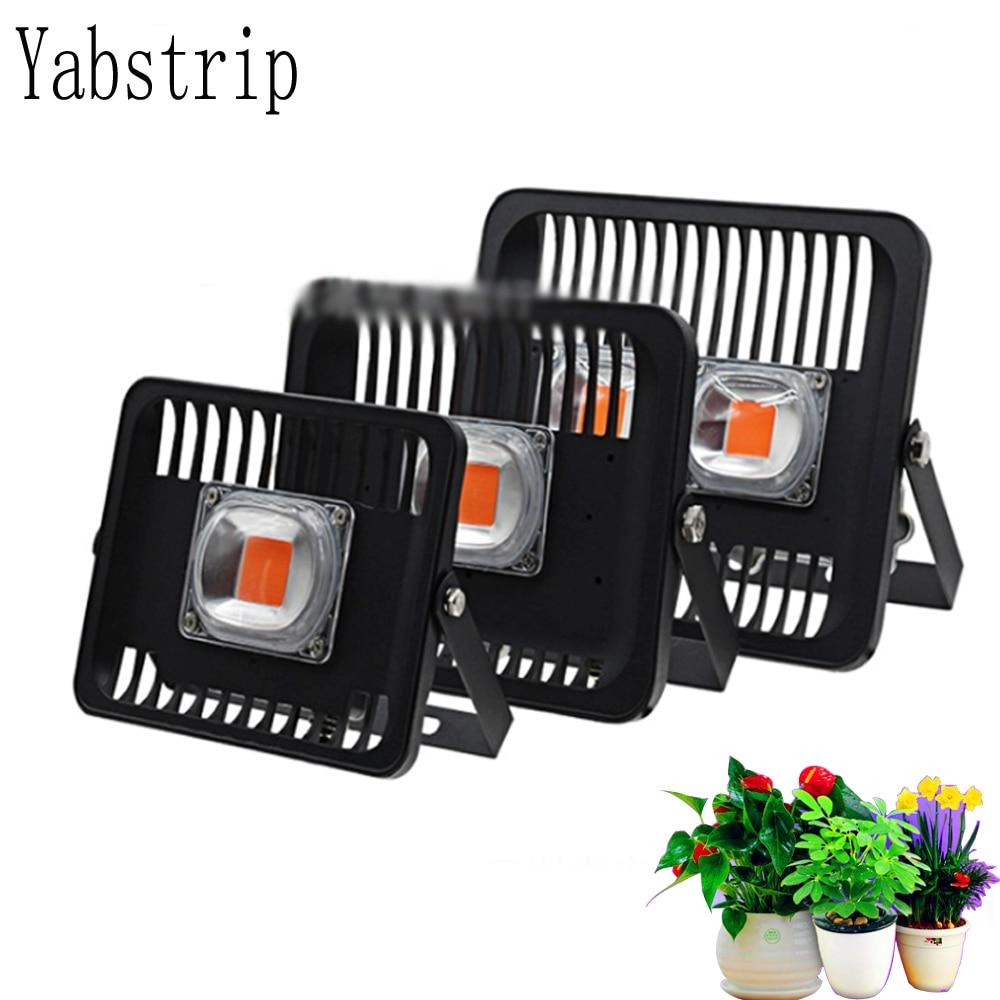 Yabstrip Led Grow Light Full Spectrum 30W 50W 100W IP67 waterproof COB Grow LED Flood light for Plant Indoor Outdoor Hydroponic недорого