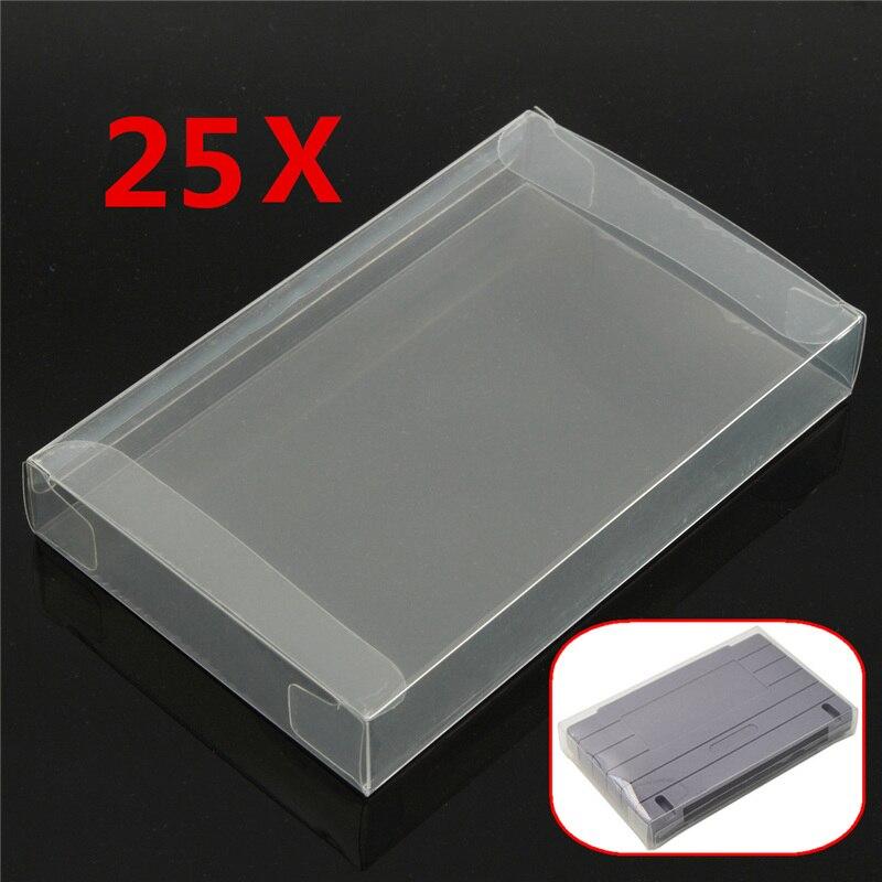 25x jogo cartucho protetor caso para caixa de capa de plástico para marca novo jogo cartucho capa caso
