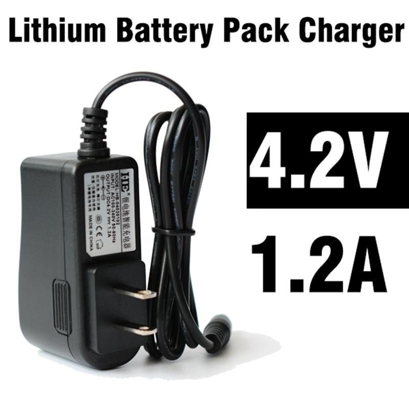 5 unids/lote 4,2 v 1.2A cargador de batería para e-book envío gratis