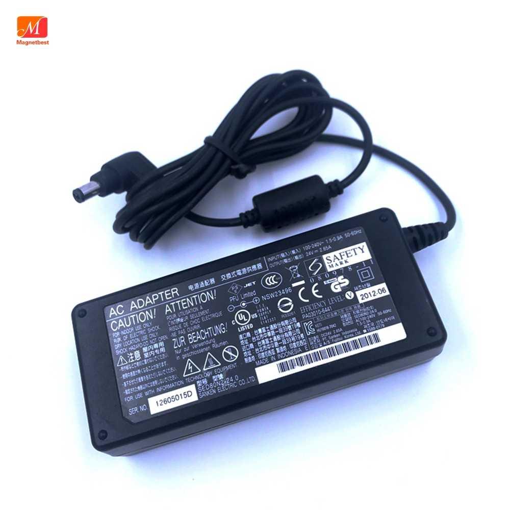 Cargador Adaptador De Ca Ca De 24v Y 2 65 A Para Fujitsu Fi6125 La622 5la6240 6240z Suministro Eléctrico Para Impresora Adaptador De Corriente
