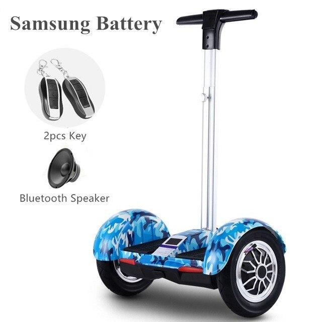Hoverboard de 10 pulgadas, 2 ruedas, patinete de auto equilibrio inteligente, patín eléctrico UL2272 Hoverboard volante