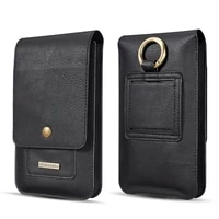 multifunction leather phone pouch bags hook loop belt clip case for iphone11 pro max xs max xr for samsung waist bag wallet bags