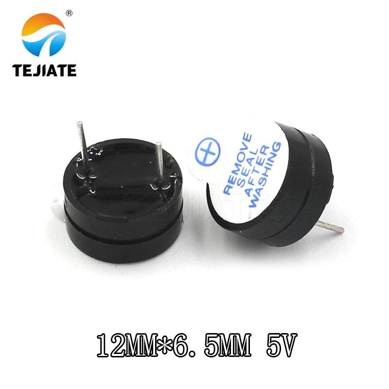 5 piezas nuevo zumbador activo 5V ultrafino alarma AC SOT 12MM * 6,5 MM 12065 paso MINI zumbadores piezoactivos de 7,6mm