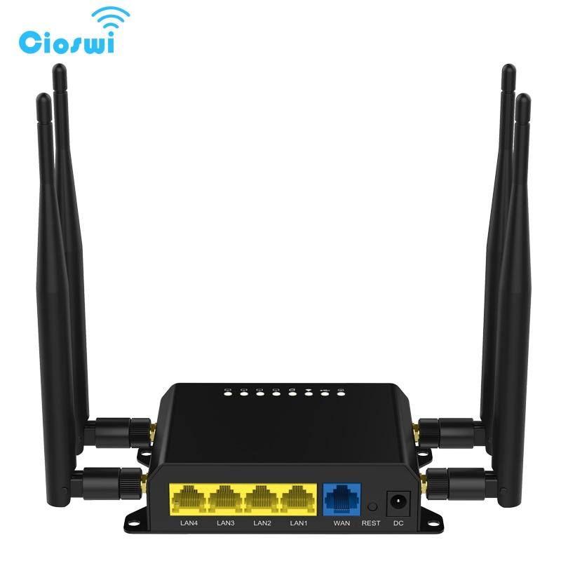 Модем-роутер M2m 3g 4g Lte, Wi-Fi Мобильный роутер 12 В со слотом для сим-карты, брандмауэр, VPN роутер беспроводной 300 Мбит/с 128 Мб, Openwrt