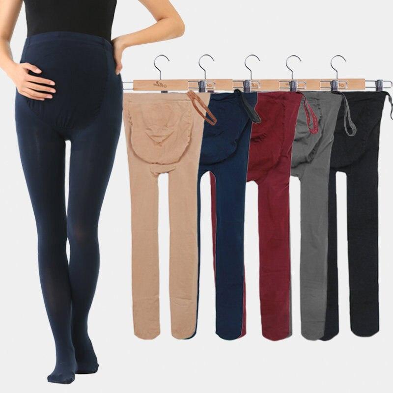 Leggings de verano para mujeres embarazadas pantimedias de protección completa fino liso de talla grande inferior pantalones de maternidad