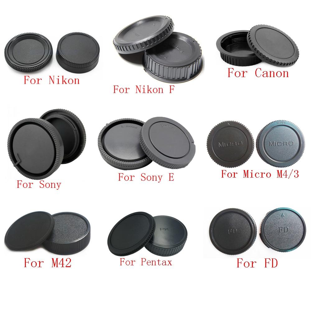 10 unids/lote Cuerpo de Cámara cap + tapa de lente trasera para Canon nikon Sony NEX para Pentax Olympus Micro M4/3 Panasonic M42 FD montaje de cámara