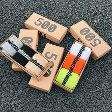 3 paires/boîte mode Stock équipage mâle marée rue Europe Hip Hop Match 500 marée jeunesse chaussettes hommes et femmes personnalité chaussettes