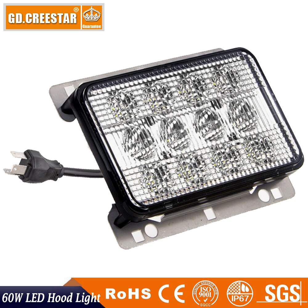 Para AGCO Allis/blanco LED de la serie capucha alta baja y haz para john deere 7130 de 7230 tractor de la serie 7330,7220, 7320, 7420, 5D-7030