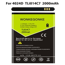 "WONKEGONKE TLi014C7 для Alcatel One Touch Pixi First 4024D 4,0 ""батареи"