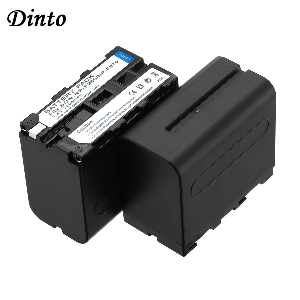 Dinto 2 uds 7200mAh NP-F950 F960 F970 F750 F750A F760 de batería...