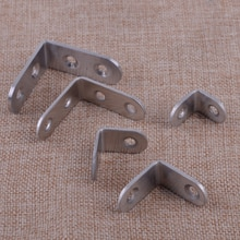 LETAOSK 10pcs Stainless Steel L Shape 90 Degree Right Angle Bracket Corner Brace Joint for Shelf Support 2x2cm/2.5x2.5cm/3x3cm