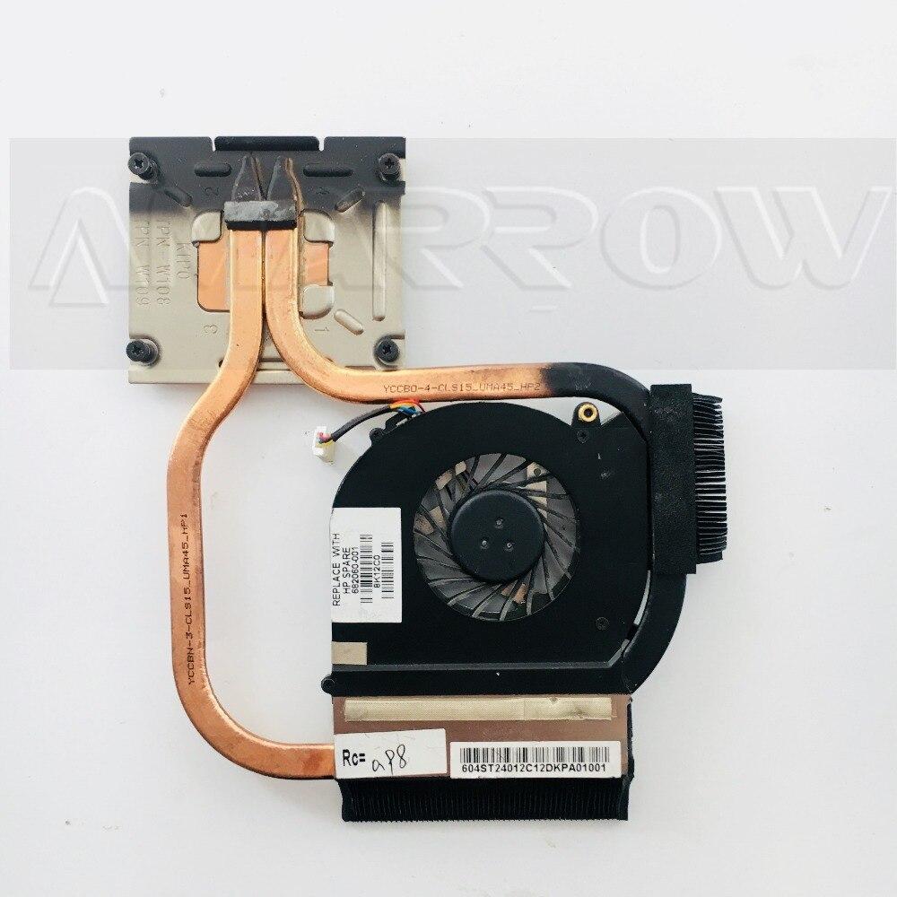 Disipador de calor del ventilador de la cpu del ordenador portátil del envío gratis Original para hp DV6 DV7 DV6-7000 DV7-7000 682060-001