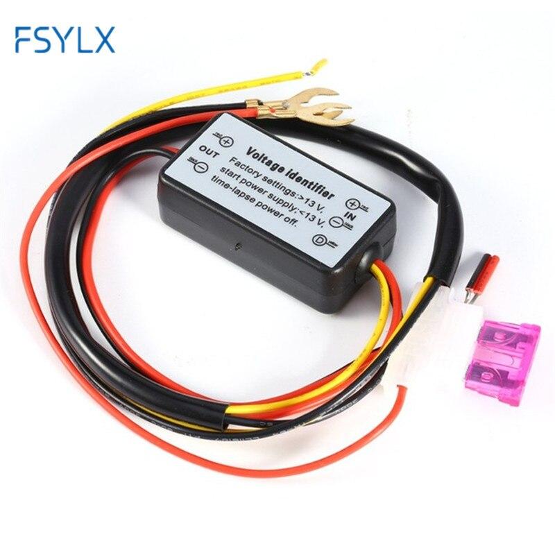 FSYLX 2pc LED DRL arnés controlador de luz diurna enchufe Auto lámpara LED antiniebla de coche Cable de relé de luz diurna interruptor de encendido/apagado