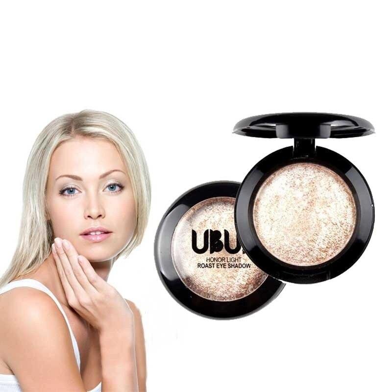 Único Baked Sombra em Pó paleta de sombras yeux paleta maquillage Paleta Shimmer Metallic Eyeshadow Palette # y2