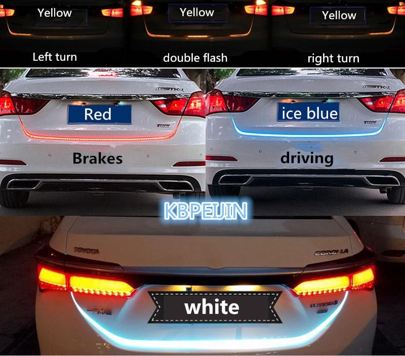 Accesorios, tira LED dinámica para el maletero, luz trasera de iluminación, pegatina para Toyota corolla verso rav4 camry prius hilux, decoración para el coche