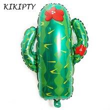 1 pièces/lot 63*73cm Cactus feuille daluminium ballon fruits feuilles été thème fête décoration anniversaire mariage fête fournitures