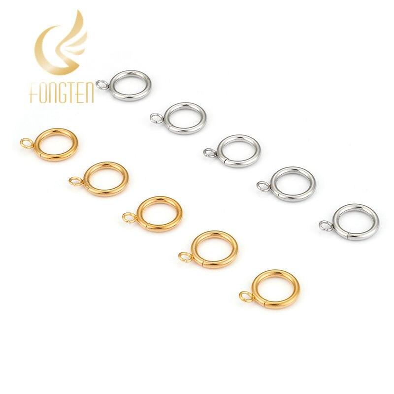 10 pièces/lot 2*13MM anneaux de saut en acier inoxydable S/or boucles ouvertes anneaux bricolage fendu anneaux pour la fabrication de bijoux