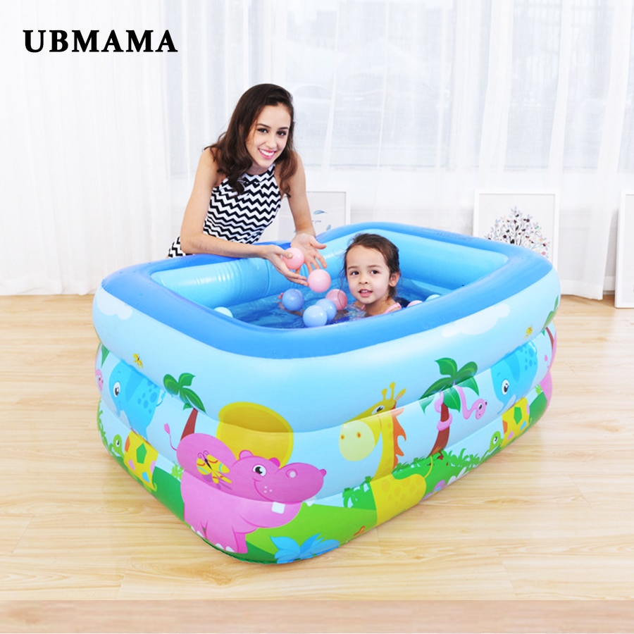 Family Swim Center Inflatable Pool large Bubble Bottom Drain Hole kids Swimming Childrens water ball play pool