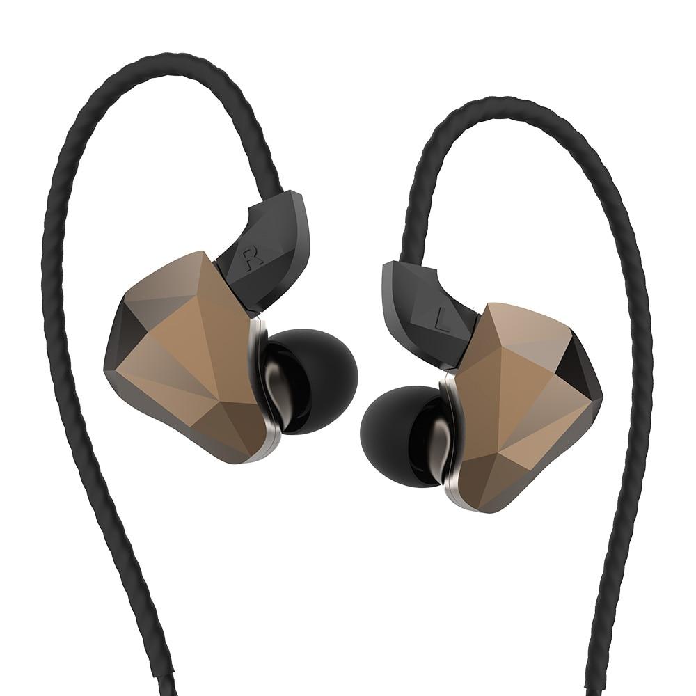 Yinyoo TOPAZ 4BA + 1DD Hybrid In Ohr Kopfhörer 10MM Bio-Membran Angepasst Legierung Dynamische Treiber HIFI DJ monitor Kopfhörer Ohrhörer