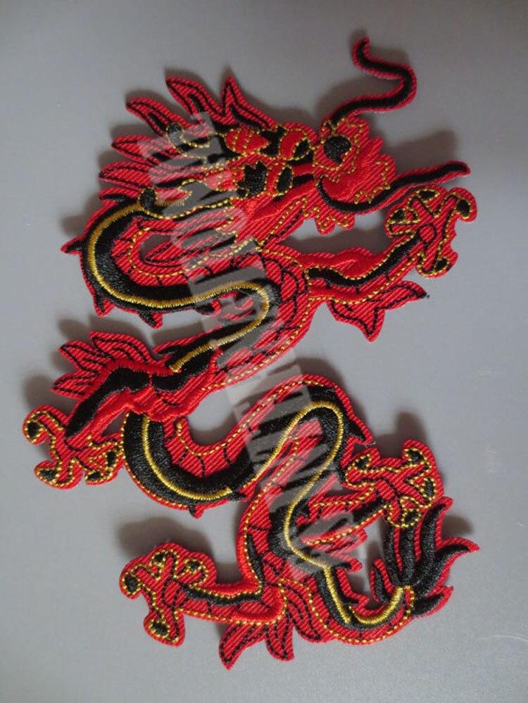 Патчи с вышивкой в этническом стиле chainese dragon, жилет на заднюю крышку для байкеров, мотоциклетных клубов, 8,6 см * 13 см
