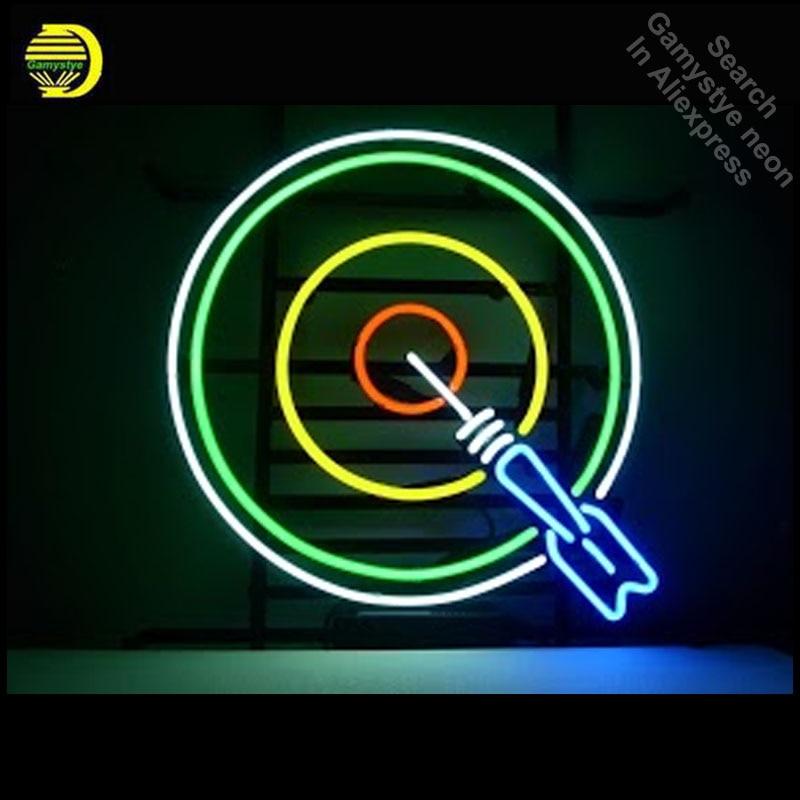 Неоновая вывеска для дартборда Bullseye неоновая лампа знак знаковая ручная работа неоновая вывеска игровая комната неоновые огни парусный ...