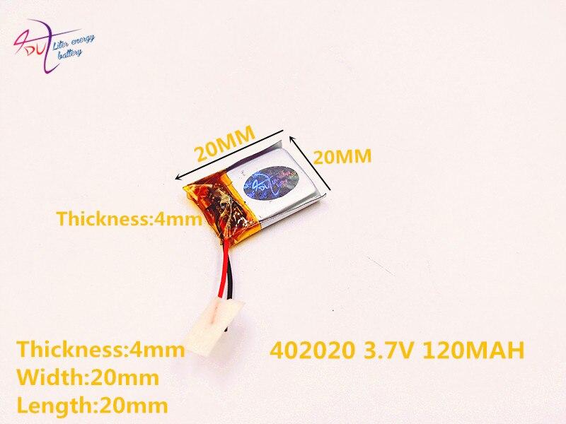 [SD] 402020 3,7 В, 120 мА · ч, [402020] полимерный литий-ионный/литий-ионный аккумулятор для игрушек, POWER BANK, GPS, mp3, mp4, сотового телефона, динамика