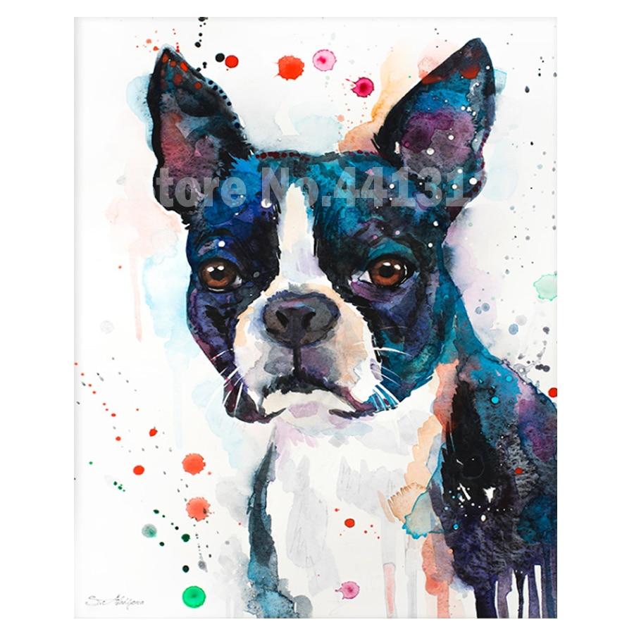 boston terrier unique pets 3D Diamond Painting Cross Stitch Crystal Needlework Full Diamond Embroidery pattern mosaic kit B563