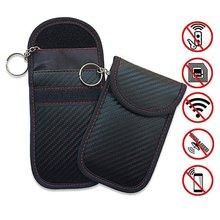 Car Key Signal Blocker Faraday Bag Keyless Fob RFID Blocking Pouch Case