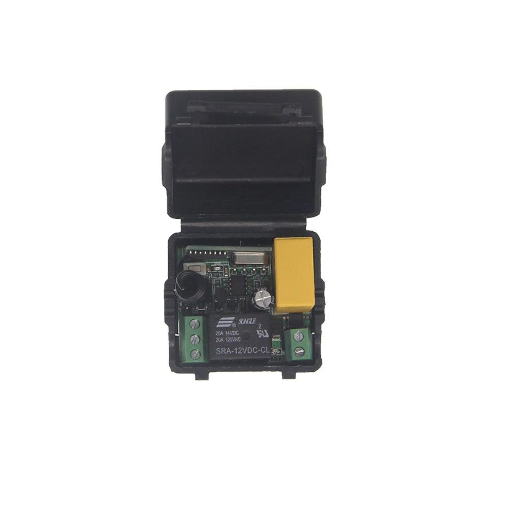 Mini estable AC 220V 1 CH 1CH 10A receptor de relé RF lámpara de luz inalámbrica LED Bombilla tiras mando a distancia Control