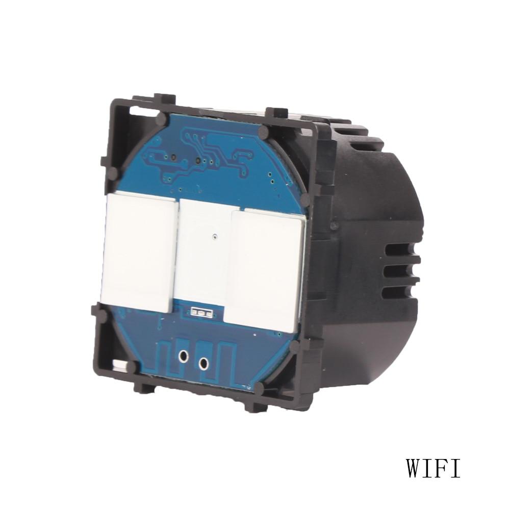 Interruptor Bingoelec 2 Gang 1 Way WIFI parte EU Sensor táctil estándar Control inalámbrico domótica inteligente parte por Tuya APP