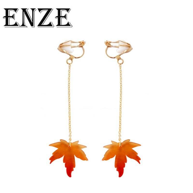 Envío Gratis, joyería Popular para mujeres, pendiente de perlas de imitación de Hojas de arce dorado, pendientes, pendientes, accesorios de moda