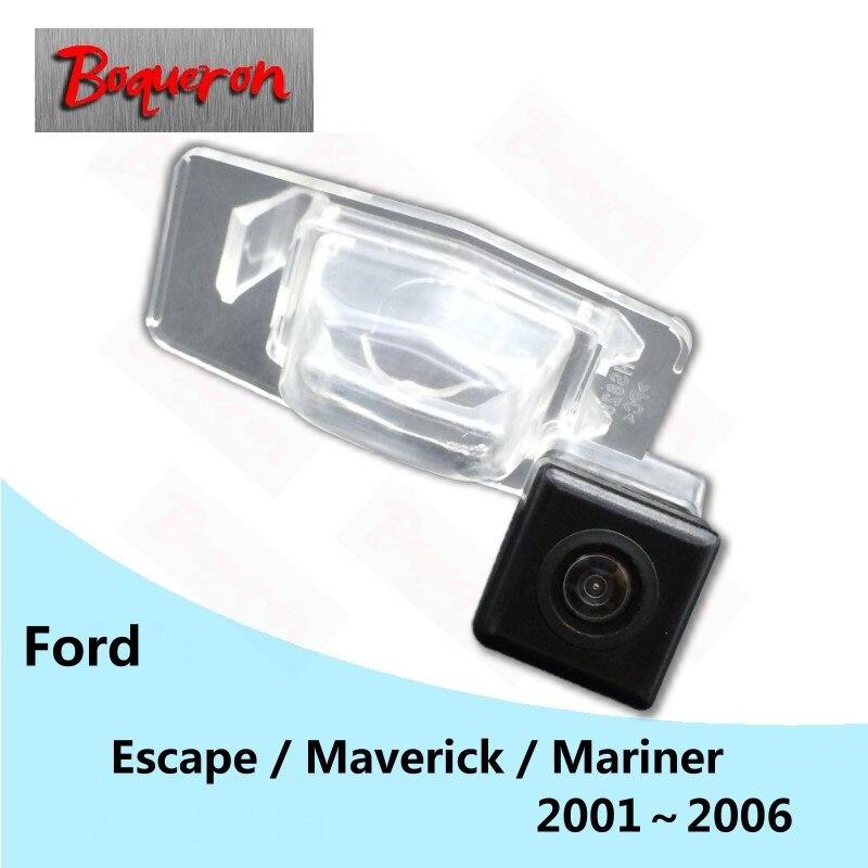Boquerón para Ford Escape Maverick Mariner 2001 ~ 2006 HD CCD visión nocturna cámara de respaldo de estacionamiento inverso vista trasera de coche Cámara