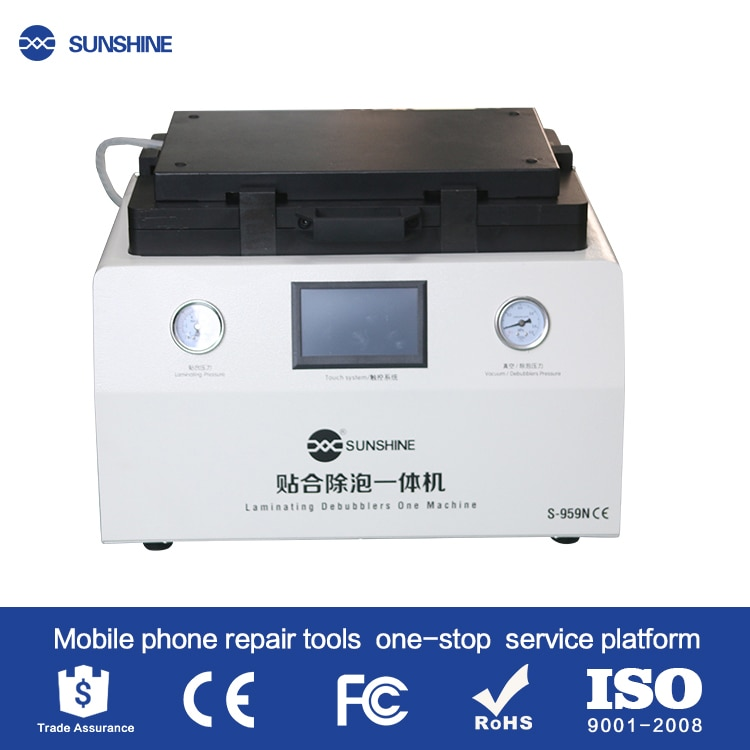 Review Newest 15inch  SS-959N Mobile LCD Refurbished OCA liminating Debubbler Machine For Iphone Samsung S8 S9 S9EDGE Lcd repair