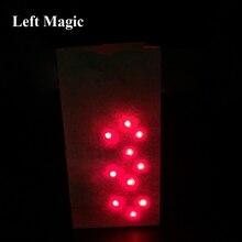 Sac O Lites allumer (inclure le doigt) lumière tours de magie rouge/bleu lumière pour gros plan jouet magique mentalisme Bar afficher Illusion