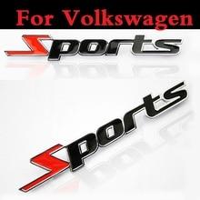 Sports 3D Chrome metal Car Sticker Emblem Badge Decal Auto For Volkswagen Jetta Lupo Lupo GTI Passat CC Passat R Phaeton Pointer