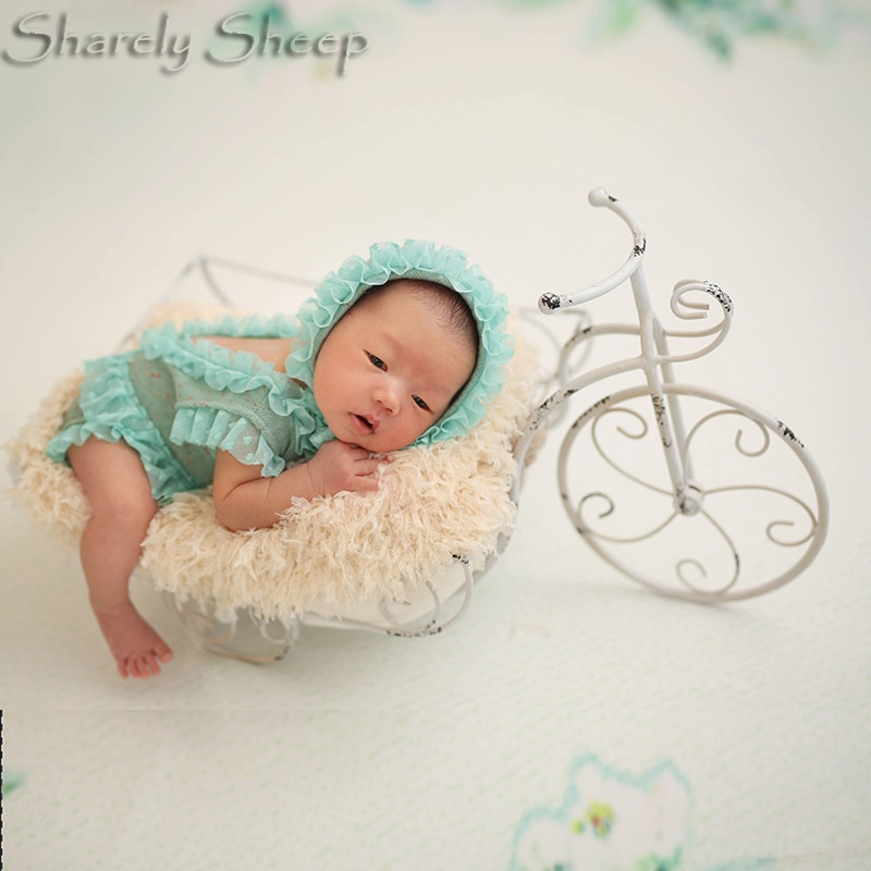 Newborn Photography Props Bicycle Bed Baby Photo Shoot Studio Posing Basket fotografia Accessories New born Picture Shoot Props