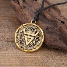 Teamer argent couleur Veles symbole Weles slavique richesse Talisman pendentif ancien Talisman pendentif rond bijoux hommes collier