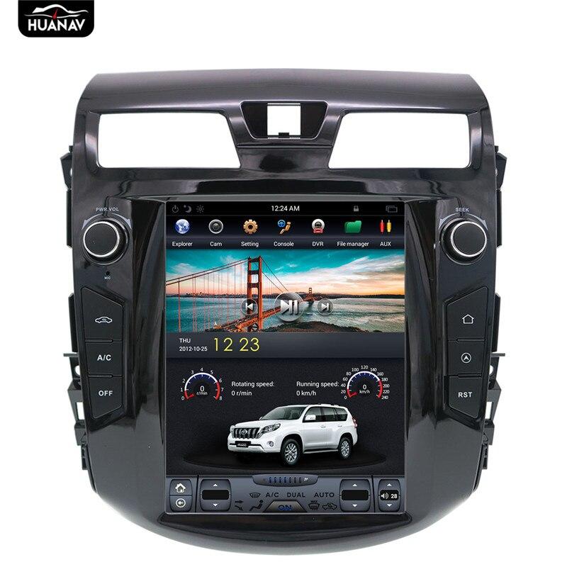 Navegação gps do carro de 10.4 polegadas do estilo de tesla de android para nissan teana altima 2013-2018 no rádio automático dos multimédios do carro nenhum leitor de dvd