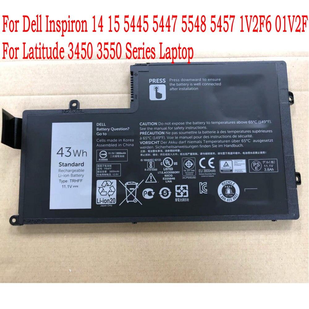 Original trhff bateria do portátil para dell inspiron 14 15 5445 5447 5548 5457 1v2f6 01v2f para latitude 3450 3550 série portátil