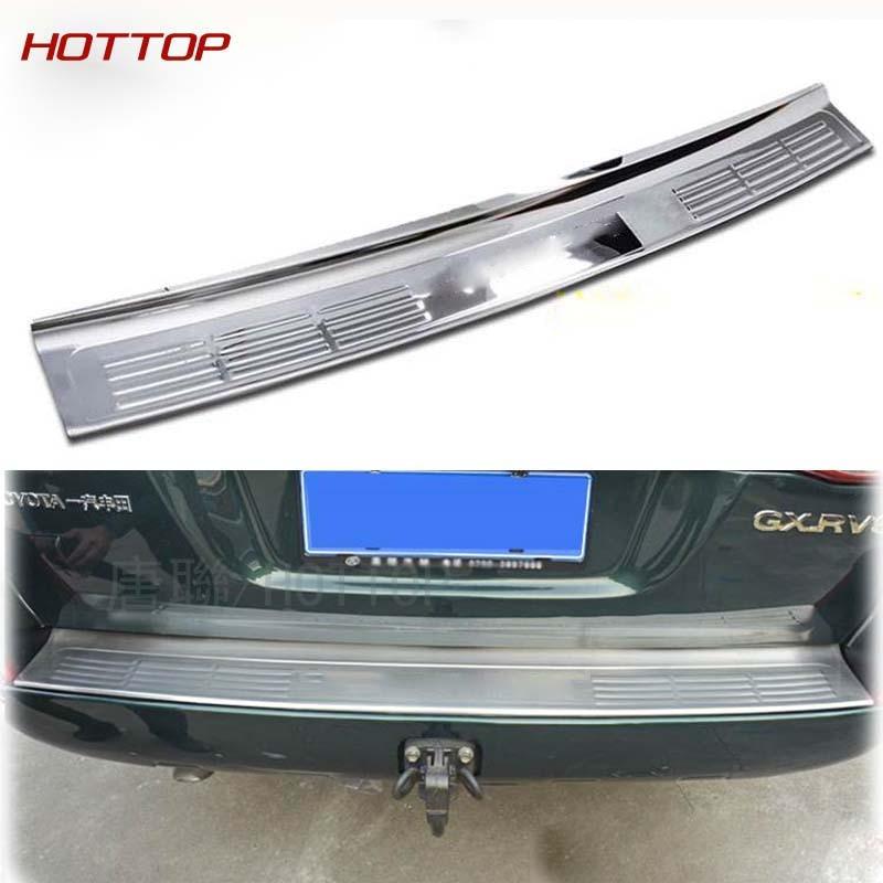 Para land cruiser 200 2008-2016 chrome espelho superfície amortecedor traseiro protetor guarnição estilo do carro acessórios tuning