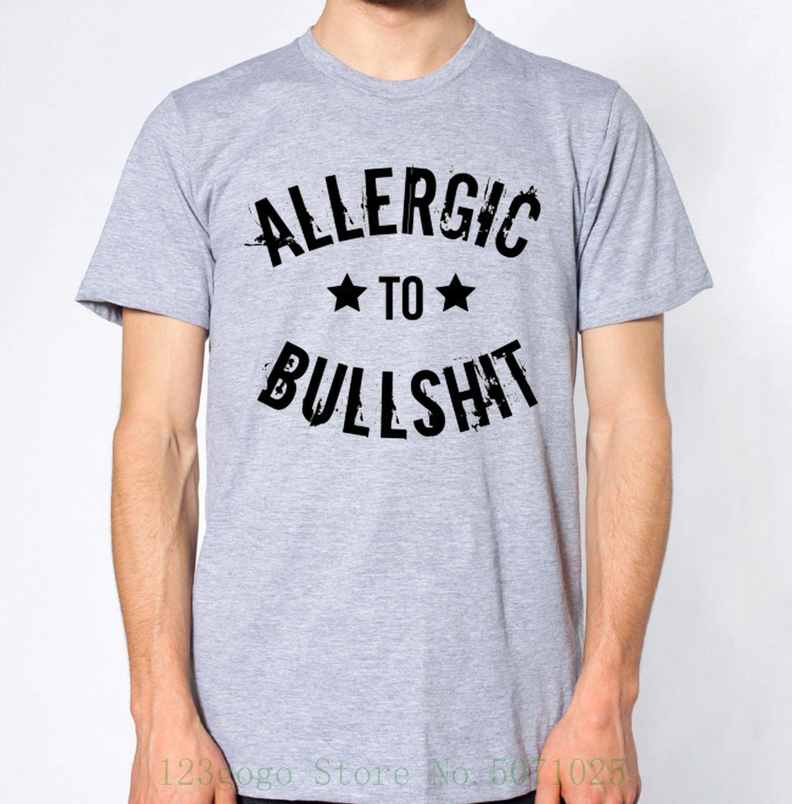 Nueva camiseta alergic To Bullshit divertida broma Liar Humour divertida camiseta de moda nueva llegada Simple