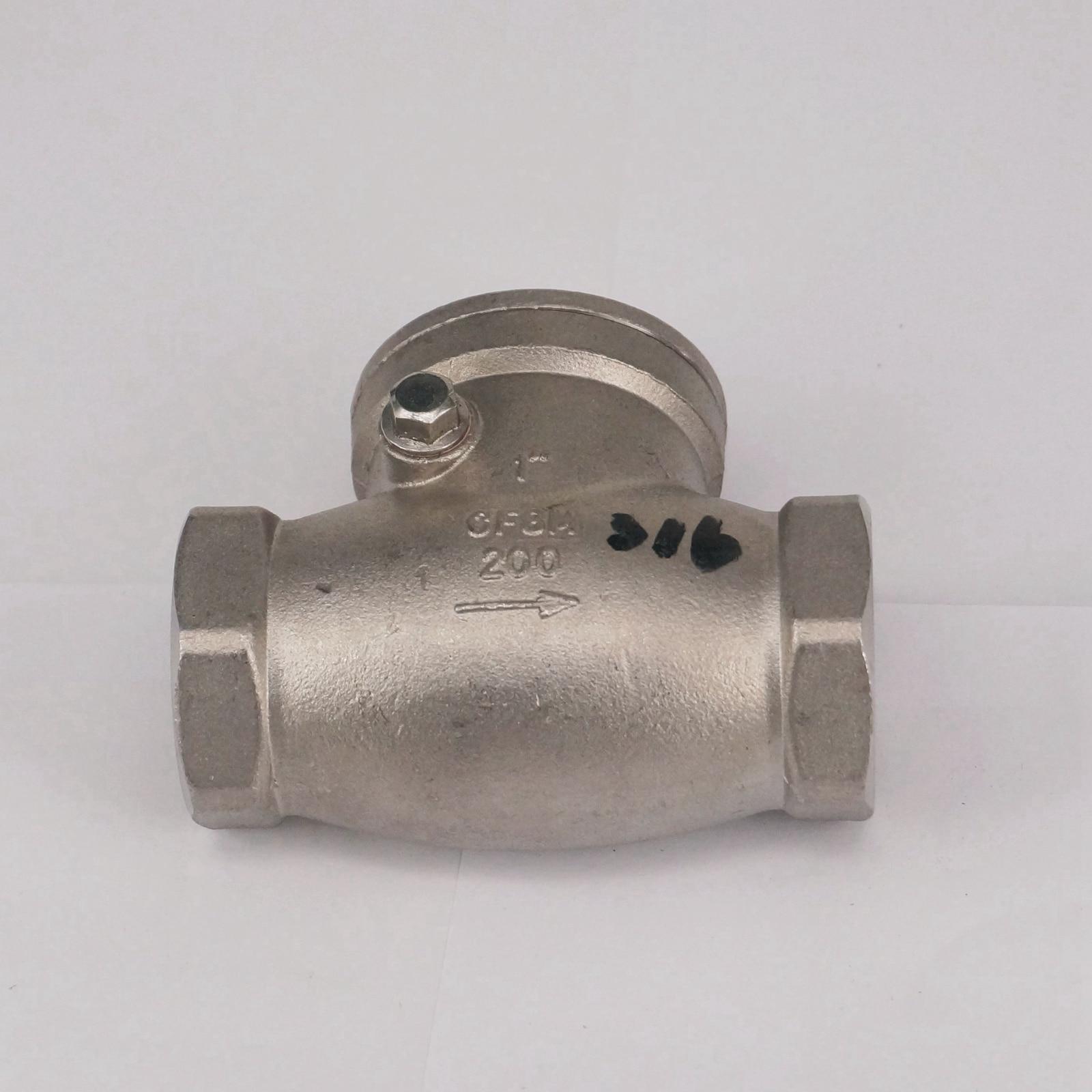 """DN25 1 """"BSP hilo femenino 304 válvula de retención de giro de acero inoxidable válvula de una vía de no retorno 229 PSI"""