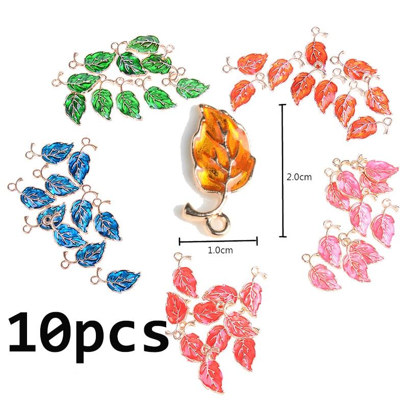 10pcs/lot  Drop Oil Leaves Shape Zinc Alloy Charms Pendant For DIY Jewelry Earrings Accessories  20*10mm